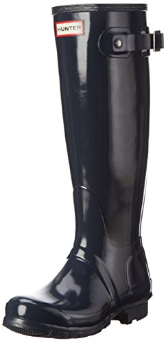 Hunter - Original Gloss (W23616), Stivale da donna, blu (navy), 36