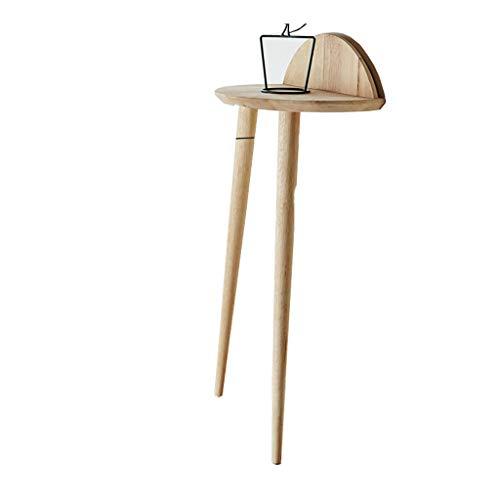 Ende Beistelltisch Nachttisch (SACKDERTY Beistelltische Ecktisch Veranda Nachttische Ende Beistelltisch Tische WohnzimmermöBel Akzent Couch Stabil Und Robust Kompaktes Mehrzweck-Slim-Look In Holzoptik FüR Wenig Platz)