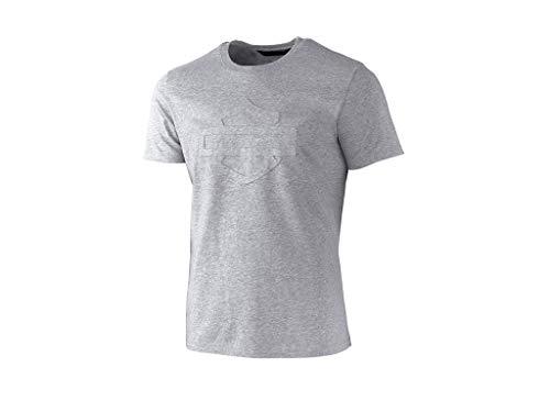 Harley Davidson T-Shirt Embossed Logo Grau - HD-Moto, 2XL (Davidson Herren Xxl Harley T-shirts)