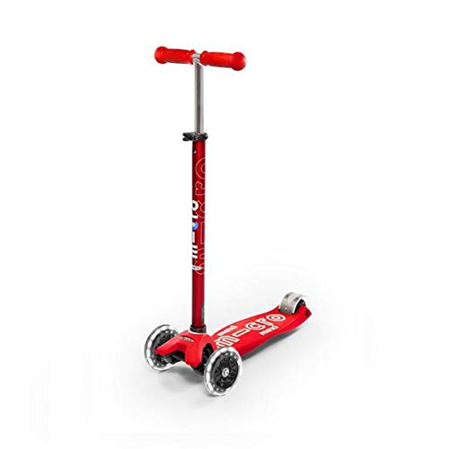 Micro Maxi Step Deluxe Rood LED (Micro Scooter Räder)