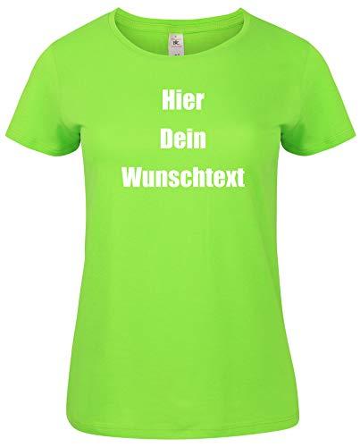 Selbst Grünes T-shirt (Damen T-Shirt Rundhals Bedrucken mit dem Amazon Tshirt Designer. T-Shirt selber gestalten. T-Shirt Druck. T-Shirt mit Wunschtext. T Shirts sind Ökotex-100 Zertifiziert. Gruen XXL)