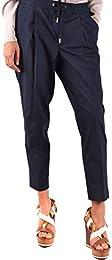 Moncler Women's MCBI212086O Blue Cotton Pants
