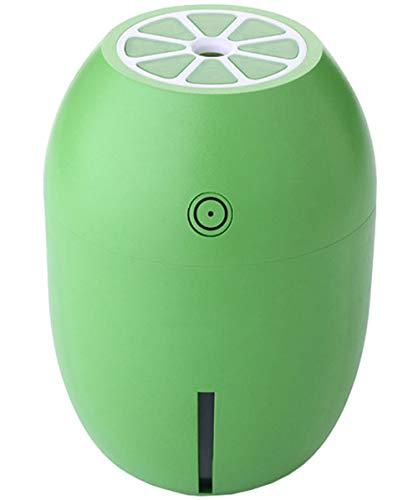 Shenhai Humidificador de limón Mini humidificador de luz Nocturna Humidificador de Forma de Fruta Mini humidificador Limón Verde un tamaño