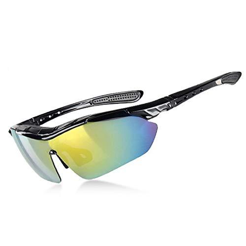Polarisierte Sonnenbrille mit UV-Schutz Coole männer Polarisierte Sport Sonnenbrille Mit 5 stücke Wechselobjektiven Outdoor Radfahren Baseball Laufen Angeln Fahren Golf. Superleichtes Rahmen-Fischen,