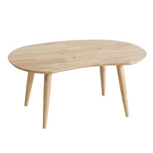 Tables basses Table d'appoint en Bois Massif Minimaliste Moderne Table à Manger Ovale Table d'ordinateur Bureau pour Enfants (Color : Beige, Size : 94 * 50 * 40cm)