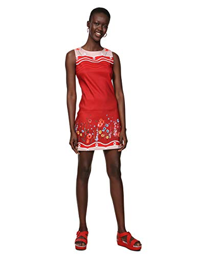 Desigual Damen Dress Sleeveless Patrice Woman RED Kleid, Rot (Menorca 3073), 38 -
