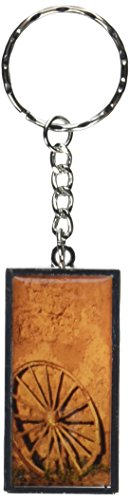 graphics-and-more-western-wagon-wheel-fort-union-new-mexico-keychain-ring-k1955