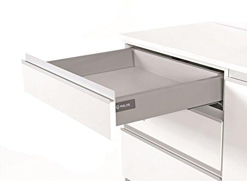 Cierre suave cajón de cocina sistema de corredores L–500–Caja de comodidad por...