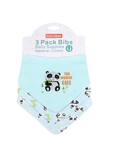 Enfant Bébé Bandana Dribble Bavettes avec Boutons De Presse Coton 0-3 Ans Pack De 6Pieces Pack,Panda