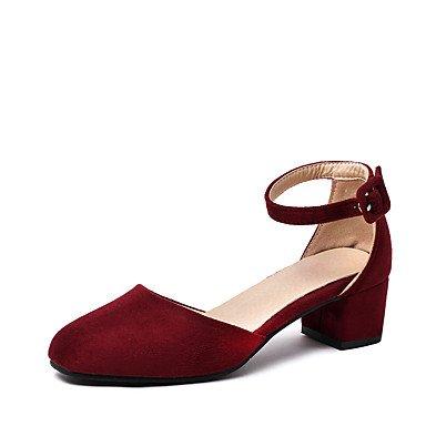 delle donne sandali estivi D & # 039; Orsay & amp;Due pezzi in similpelle partito & amp nozze;Abito da sera tacco grosso con fibbia Hollo US8.5 / EU39 / UK6.5 / CN40