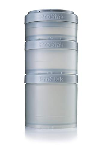 BlenderBottle ProStak Expansion Pak -  3 Pak Container (250ml, 150ml und 100ml) inklusive 1. Pillenfach - weiß - Portion Pak