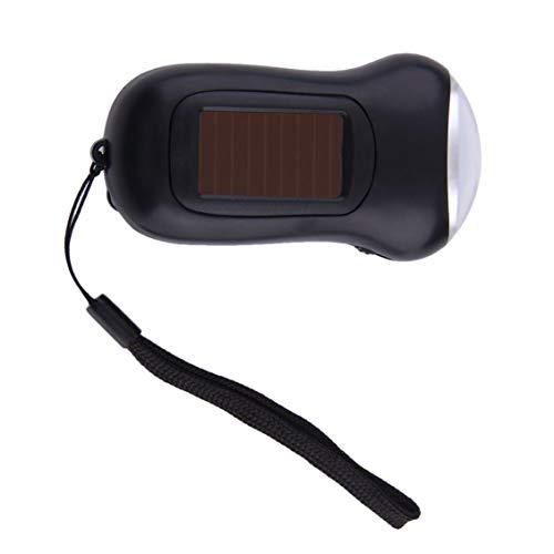 Preisvergleich Produktbild ABS-Kunststoff Mini tragbare Handkurbel Dynamo 3 LED angetriebene Taschenlampen-Campingfackel Freies Verschiffen