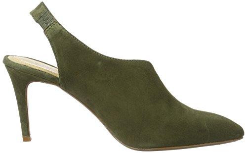Gardenia Copenhagen Cabba, Sandales Bout Ouvert Femme Vert (Suede Olive)