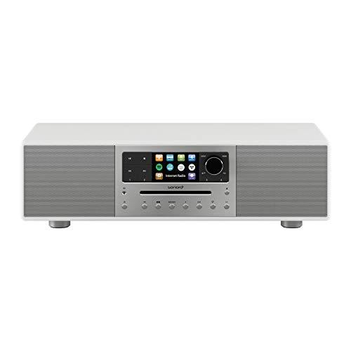 sonoro MEISTERSTÜCK Kompaktanlage Streaming+ (FM/DAB+, CD, AUX, Bluetooth, Spotify, Amazon Music, Napster, Qobuz, Tidal, Deezer) Weiß/Space Grau