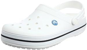 Crocs Crocband Unisex - Erwachsene Clogs, Weiß (White 100),43-44EU(UKM9/W10/USM10W12)