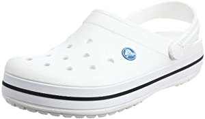 crocs Crocband, Unisex - Erwachsene Clogs, Weiß (White), 43/44 EU