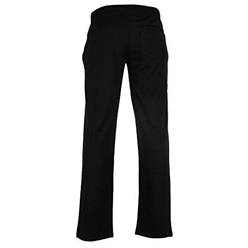 Octave ® Fitness Pantalon de survêtement pour femme de survêtement/Jogging/Pantalon de sport Noir - Noir