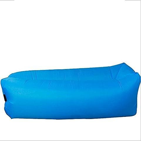 HDWN Sof¨¢ perezoso inflable de lado Europa y el camping de turismo al aire libre de Estados Unidos saco inflable oficina almuerzo cama plegable (L * W: 260 * 70cm) , blue
