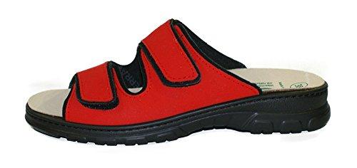 Algemare Pantolette Sandalette Red waschbares Algenkork Wechsel-Fußbett Serrapielfutter 6446_5390, Größe:40 (Meeresalgen Red)