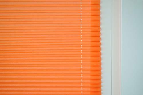 Raffrollo/Ösenrollo/Plissee Olbia orange Marc Öse ca. 100 * 125 cm - 2