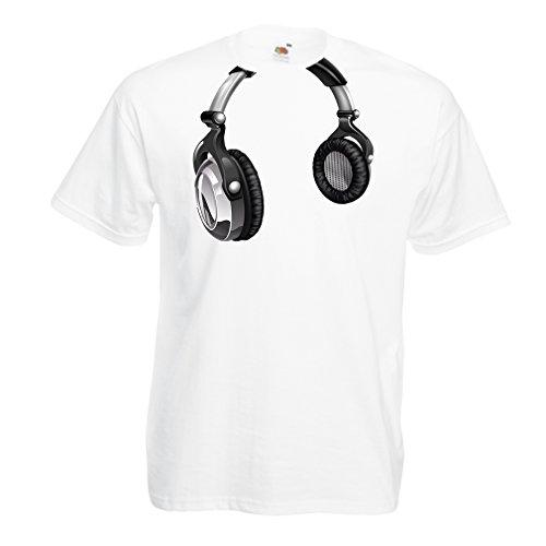 T Shirts For Men For Music Lovers - DJ Gift, Retro Music, Electronics, Headphone Print
