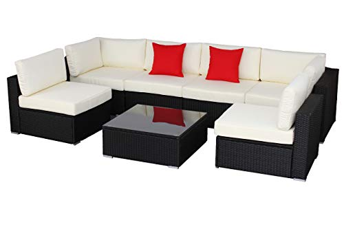 do4u 100 Outdoor Terrasse Rattan Sofa Set sektormöbel Set -