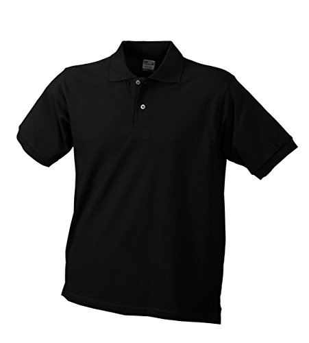 Klassisches Piqué-Poloshirt für Herren Schwarz
