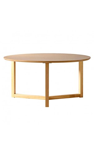 CAMINO A CASA - Table Basse Ronde Bois Clair 90 cm Three