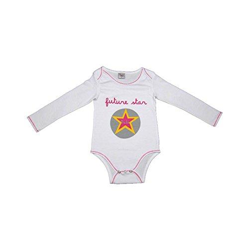 523c83652a937 Poussin Bleu - Body bébé Futur star blanc