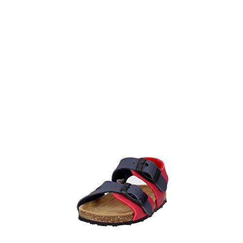 Grünland AFRE SB0413 beige taupe sandales bébé boucles Birk Rouge/bleu