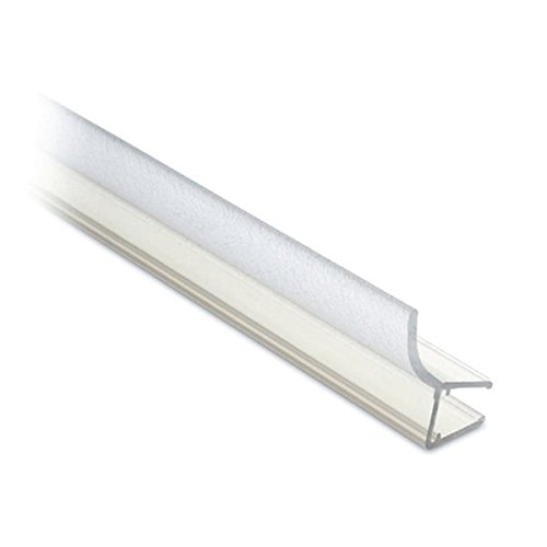 Lippendichtung für Glastür, L 2500 mm für Glasstärke 6 - 8 mm