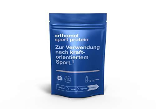 Orthomol Sport Protein - Schoko Proteinshake aus Molkeprotein Isolat Pulver - Proteinpulver mit BCAA & Kreatin - Nahrungsergänzungsmittel Muskelaufbau - Sport Protein