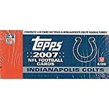 2007 Topps Football Factory Sealed Indianapolis Colts Box Version with 5 Extra Colts Rookie Cards. Loaded with Stars Including Tom Brady, Ladainian Tomlinson, Philip Rivers, Ben Roethlisberger, Reggie Bush, Vince Young, Randy Moss, Michael Vick, Peyton Manning, Eli Manning, Brett Favre, Donovan Mcnabb, Daunte Culpepper and More! Rookie Cards Include Brady Quinn, Jamarcus Russell, Kevin Kolb, Adrian Peterson, Dwayne Jarrett and Many More! by Topps