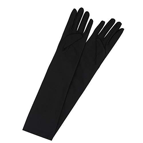 31XR7Q7e5DL. SS500  - shcukappo Extra Long Satin Elbow Gloves Set Evening dress gloves Costume Fancy Dress Etiquette performance sun protection- White