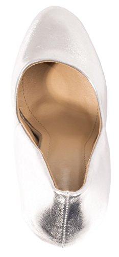 Elara Bequeme Pumps | Klassische Lack Stilettos | High Heels Silber Paris Fashion