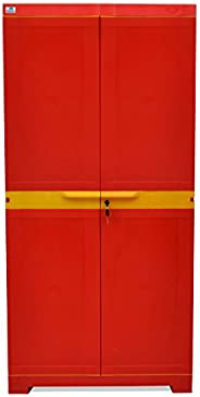 Nilkamal Freedom Mini Medium (FMM) Plastic Storage Cabinet (Bright Red & Yel