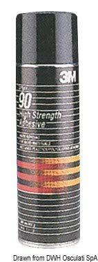 3M Sprühklebstoff 90, Mit kurzer Verarbeitungszeit und guter Klebkraft auf PE, PP, 500 ml (1-er Pack) -