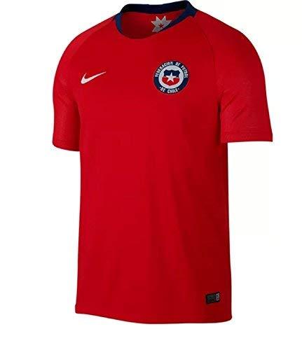 Nike Chi M BRT stad JSY SS HM, Top Kurzarm kein Genre M Chile Rosso/Bianco