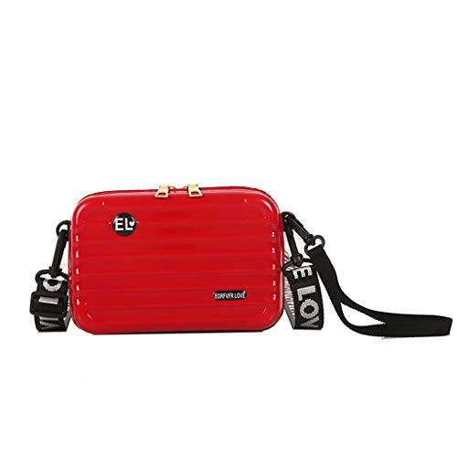 Linkay Neuer HeißEr Verkauf Mode Wild Damen Gepäckbox-Form Tasche Mini-Handytasche Handtasche UmhäNgetasche Rucksack-Rot -