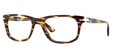 Persol Men's 3029 Green Striped Brown Frame Plastic Eyeglasses, 50mm