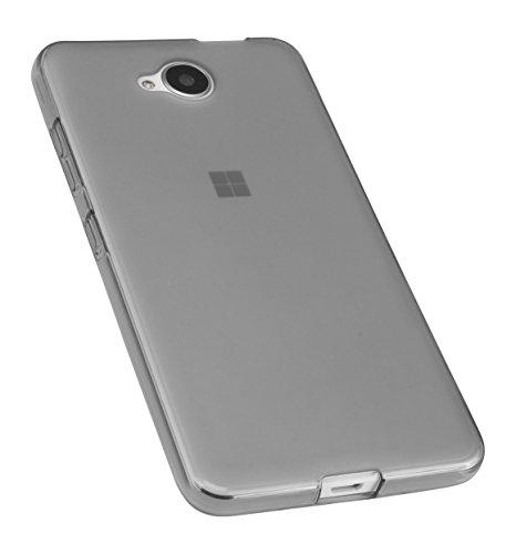 mumbi Schutzhülle für Microsoft Lumia 650 Hülle transparent schwarz