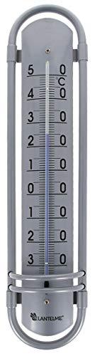 Lantelme Außenthermometer Aluminium 38 cm analog Außen Garten Innen Balkon Alu Metall Thermometer 8018