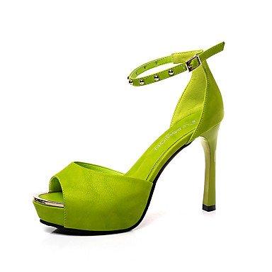 Les talons de femmes Club d'été parti en simili cuir Chaussures & tenue de soirée Casual Talon Rhinestone Buckle Noir Rouge Beige Walking Green