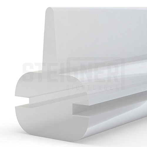Duschdichtung Duschkabinen Dichtung 120cm SDD01 TRANSPARENT - Silikon Wasserabweiser Silikondichtung Dusche Dichtprofil Duschabtrennung Schwallschutz Glastürdichtung Duschkabine Glasduschen