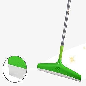 Scotch-Brite Plastic Floor Squeegee Wiper -with telescopic handle (Green/Silver)