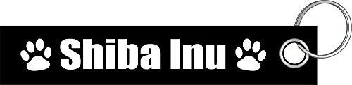 Shiba Inu Hund Hunde Hunderasse Pfote Schlüsselanhänger Schlüsselband Keyholder Lanyard (Hundefutter Aufkleber)