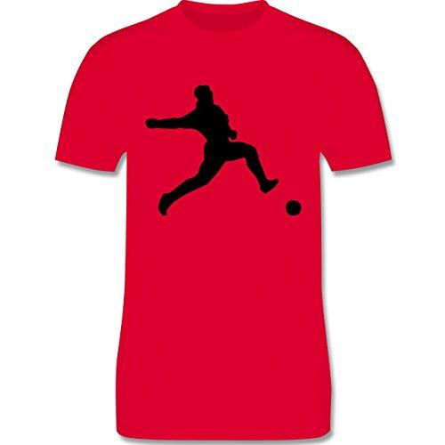 Fußball - Fußball - Herren Premium T-Shirt Rot