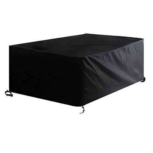 Awnic Schutzhülle für Gartentisch Abdeckung für Möbelsets 6 bis 8 Sitze Wasserdicht Winddichte Schnalle 210X120X80cm -
