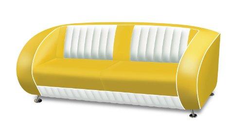 Bel-Air-Zweisitzer-Sofa-7-Farben-Retro-Fifties-SF-02CB-Diner-Sofa-Art-Deco-FarbeYellow