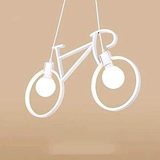Lampadario a sospensione, a forma di bicicletta dal design moderno – Attacco 2xE27